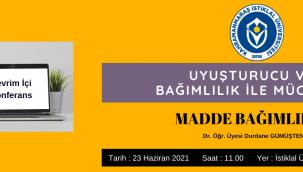 Kahramanmaraş İstiklal Üniversitesi Tarafından, Uyuşturucu Ve Bağımlılık İle Mücadele Konulu Çevrimiçi Konferans
